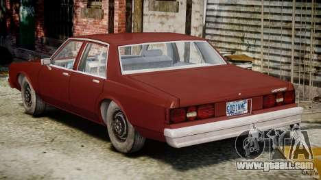 Chevrolet Impala 1983 v2.0 for GTA 4 upper view