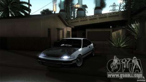 Honda CRX JDM for GTA San Andreas right view