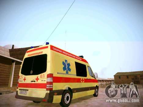 Mercedes Benz Sprinter Ambulance for GTA San Andreas right view