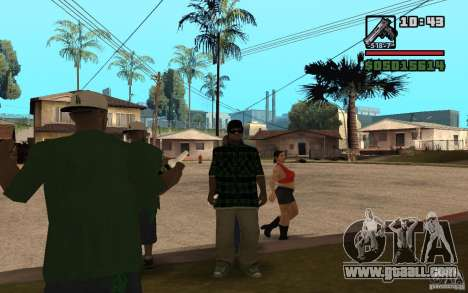 Grove Street Skin Pack for GTA San Andreas third screenshot