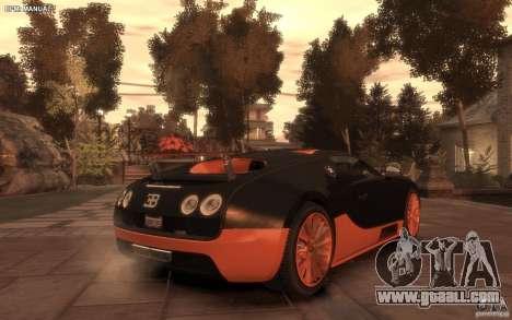 Bugatti Veyron Super Sport 2010 for GTA 4 left view