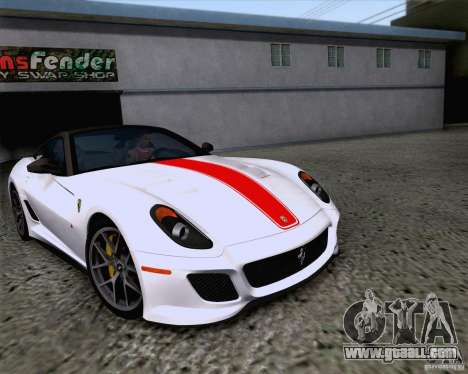 Ferrari 599 GTO 2011 v2.0 for GTA San Andreas inner view