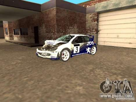 Peugeot 206 WRC from Richard Burns Rally for GTA San Andreas side view