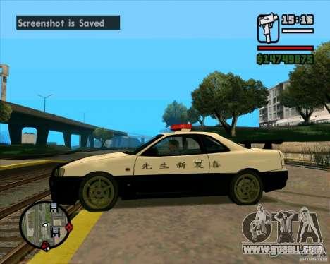 Nissan Skyline Japan Police for GTA San Andreas left view