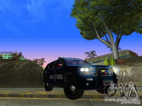 Chevrolet Tahoe 2008 Police Federal for GTA San Andreas back view