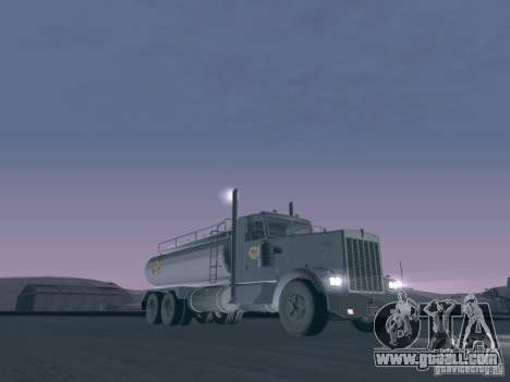 Kenworth Petrol Tanker for GTA San Andreas left view