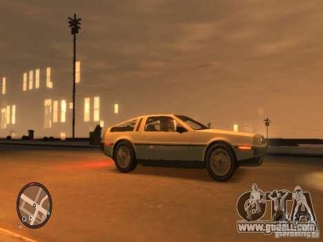 De Lorean DMC 12 for GTA 4 back left view
