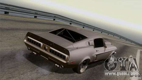 Shelby GT500 1969 for GTA San Andreas upper view