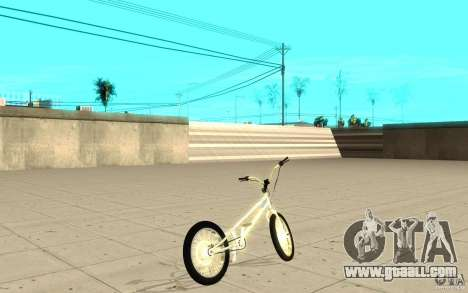 Trail Bike Chrome for GTA San Andreas back left view