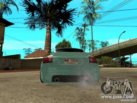 Audi TT for GTA San Andreas back left view