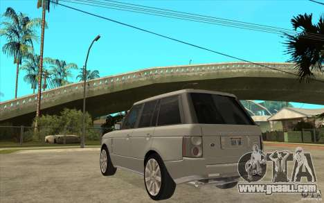 Land Rover Range Rover Supercharged 2009 for GTA San Andreas back left view