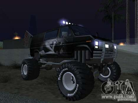 Ford Grave Digger for GTA San Andreas upper view