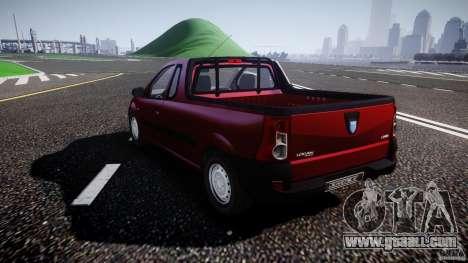 Dacia Logan Pick-up ELIA tuned for GTA 4 back left view