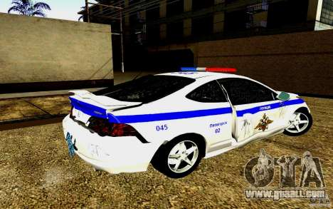 Acura RSX-S Police for GTA San Andreas upper view