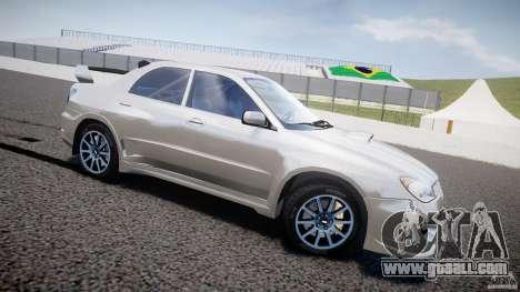 Subaru Impreza STI Wide Body for GTA 4 left view
