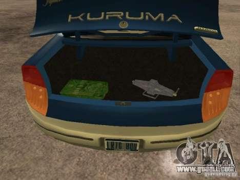 HD Kuruma for GTA San Andreas back view