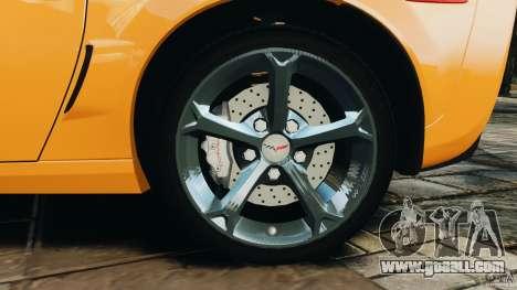 Chevrolet Corvette C6 Grand Sport 2010 for GTA 4 upper view