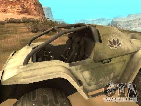 UAZ-8 Ocelot for GTA San Andreas back left view