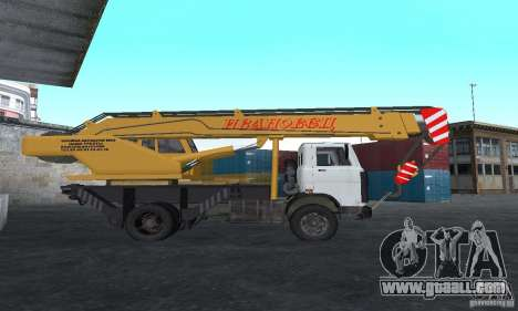MAZ Truck Crane for GTA San Andreas left view