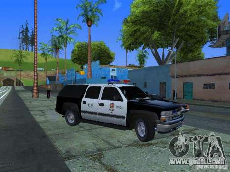 Chevrolet Suburban Los Angeles Police for GTA San Andreas