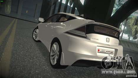 Honda CR-Z 2010 V1.0 for GTA San Andreas right view
