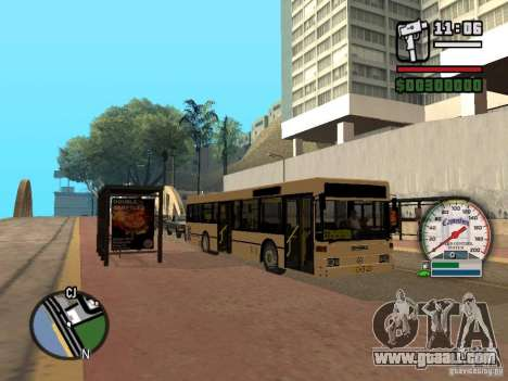 Mercedes Benz O405 N2 for GTA San Andreas left view