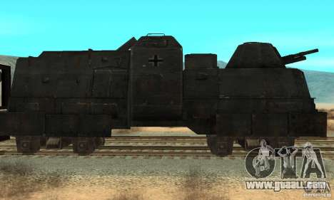 German armoured train of the second world for GTA San Andreas left view
