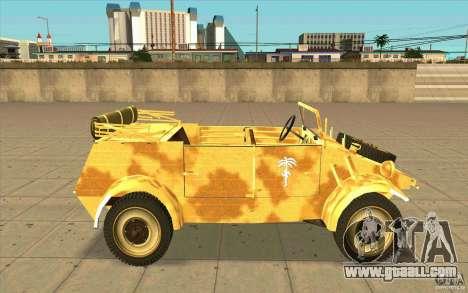 Kuebelwagen v2.0 desert for GTA San Andreas left view