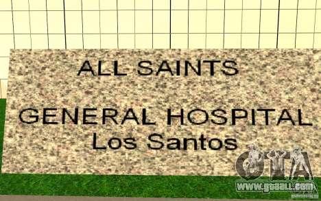 UGP Moscow New General Hospital for GTA San Andreas third screenshot