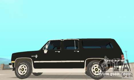 Chevrolet Suburban FBI 1986 for GTA San Andreas back left view