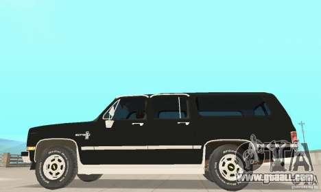 Chevrolet Suburban FBI 1986 for GTA San Andreas back left view