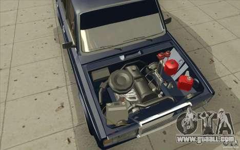 Vaz-2107 Lada Street Drift Tuned for GTA San Andreas bottom view