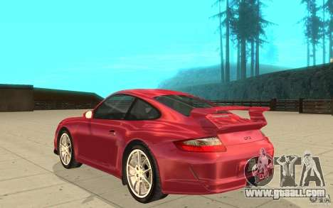 Porsche 911 (997) GT3 v2.0 for GTA San Andreas back left view