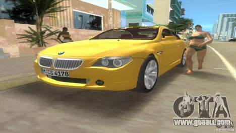 BMW 645Ci for GTA Vice City side view