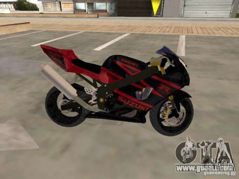 Suzuki GSXR 1000 for GTA San Andreas back view
