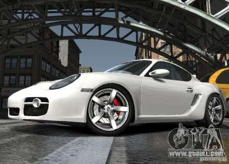 Porsche Cayman S1 for GTA 4 inner view