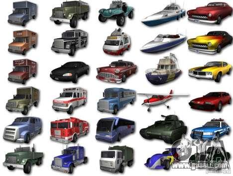 GTA3 HD Vehicles Tri-Pack III v.1.1 for GTA San Andreas back left view