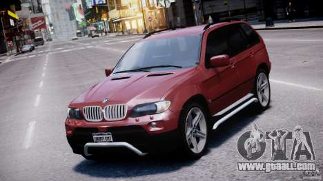 BMW X5 E53 v1.3 for GTA 4 upper view