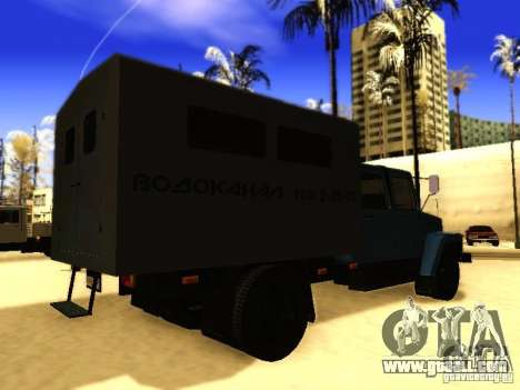 GAZ 3309 double row for GTA San Andreas back view