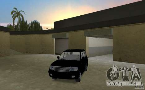 Toyota Land Cruiser 100 VX V8 for GTA Vice City right view