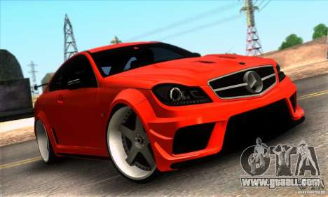 Mercedes Benz C63 AMG for GTA San Andreas interior