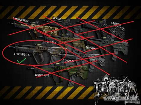 Tavor Tar-21 Steeldigital for GTA San Andreas forth screenshot