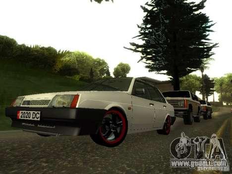 VAZ 21099 v. 2 for GTA San Andreas back view
