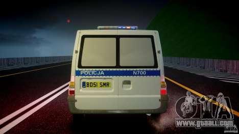Ford Transit Polish Police [ELS] for GTA 4 interior