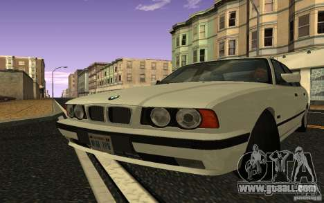 BMW 525 (E34) V.2 for GTA San Andreas back left view