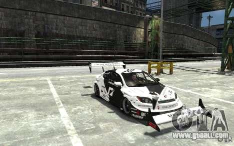 Scion tC AWD V1.0 for GTA 4 back view