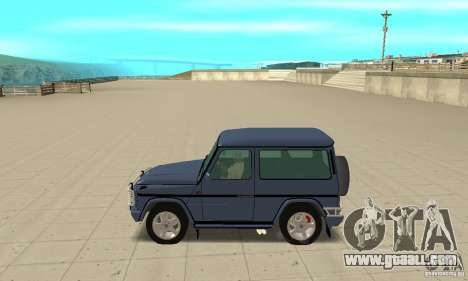 Mercedes-Benz G500 1999 Short [with kangoo v2] for GTA San Andreas left view