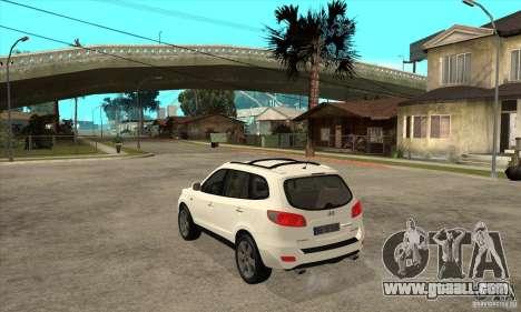 Hyundai Santa Fe for GTA San Andreas back left view