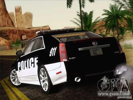 Cadillac CTS-V Police Car for GTA San Andreas right view