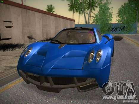 Pagani Huayra for GTA San Andreas left view